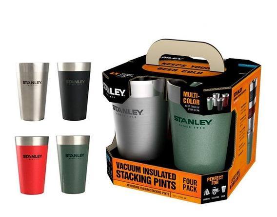 Set De Vasos Stanley 473ml Vacuum Pintas Pack X 4 Unidades