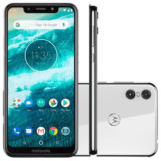 Smartphone Moto One, Branco, 5,9 64gb, Traseira De 13mp+2mp