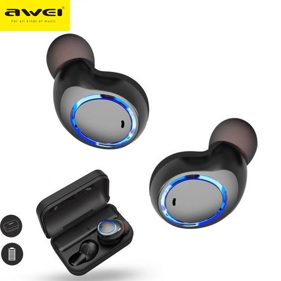 Fone De Ouvido Sem Fio 5.0 Twins Duplo Bluetooth Awei T3