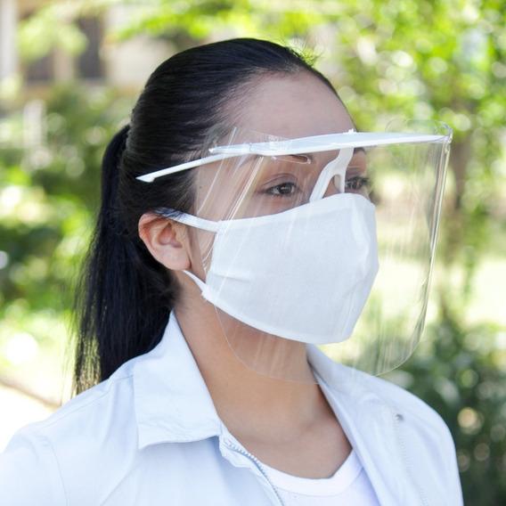 10 Careta Medica Protectora Facial Transparentes Reutilizabl