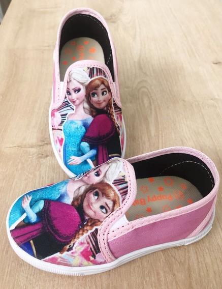 Tênis/ Sapatenis Infantil Personagem Elsa E Anna (frozen)