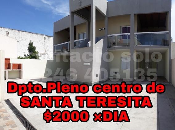 Departamento Pleno Centro De Santa Teresita A 2 C.del Mar
