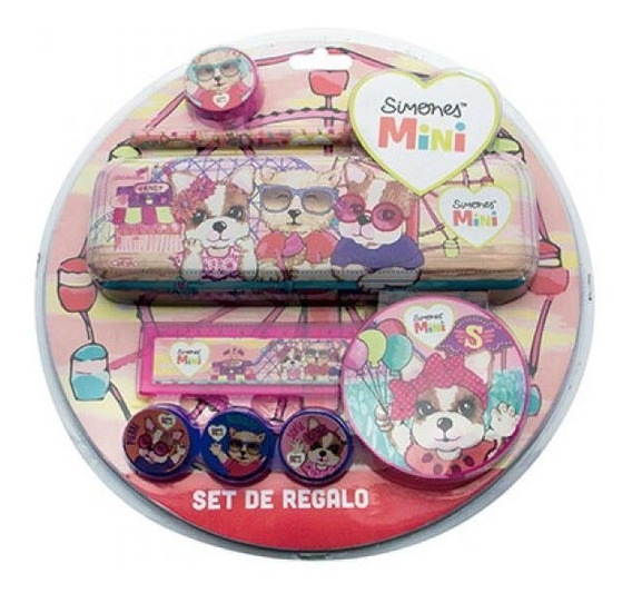 Kit Escolar Set Arte Regalo Infantil Mini Simones Si458