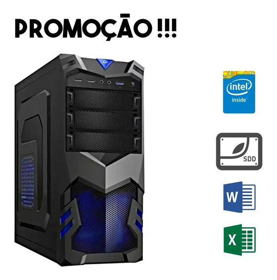 Computador Barato 4gb Intel Core Ssd 120gb Gamer Empresarial