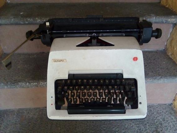 Maquina De Escribir Olympia Trabajo Pesado Carro Grande