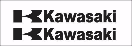 Par De Adesivos Kawasaki Para Carenagem Várias Cores