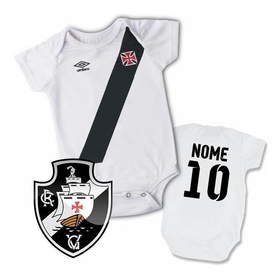 Body Bori Infantil Personalizado Camisa Do Vasco Com Nome!