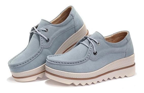 Tenis Sapato Feminino Oxford Salto Alto Tecnologia Conforto