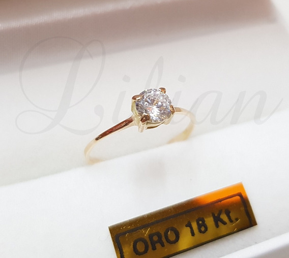 Anillo Oro 18k Casamiento Compromiso