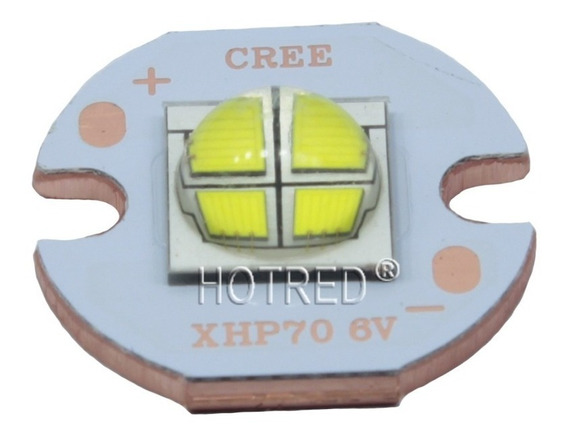Chip Led Cree 7070 20w 6v Xhp50 T9 6500k Pcb 16mm