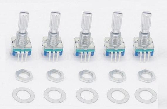 50 Peças Encoder Rotativo Ec11 - Haste 20mm - Modelo Plum