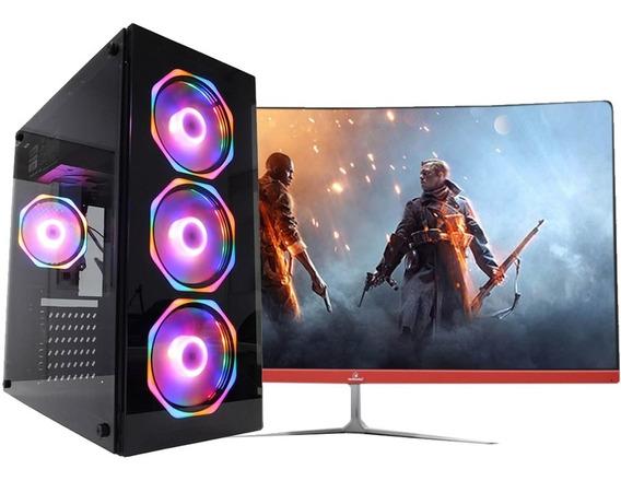 Pc Gamer + Monitor 27 I7 8º 16gb Hd 1tb 120gb Gtx1650 Wifi