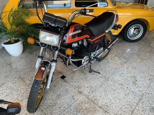 Imagem 1 de 6 de Honda Cb 450 Custom Gasolina Vermelha 1984