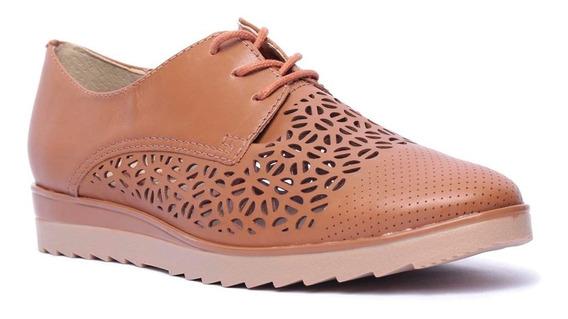 Sapato Oxford Feminino Bottero Em Couro Tanino
