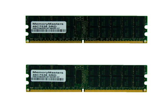 Kit Memorias 8gb (2x4gb) Pc2-5300 Ddr2 667mhz Rdimm 46c7538