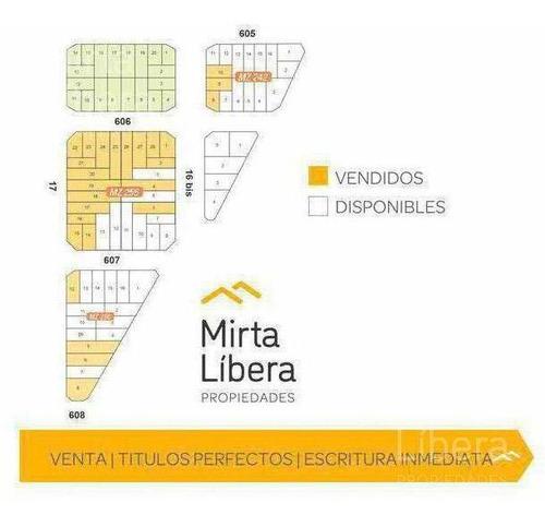 Terreno En Venta- Calle 605 16 Y 17 - La Plata