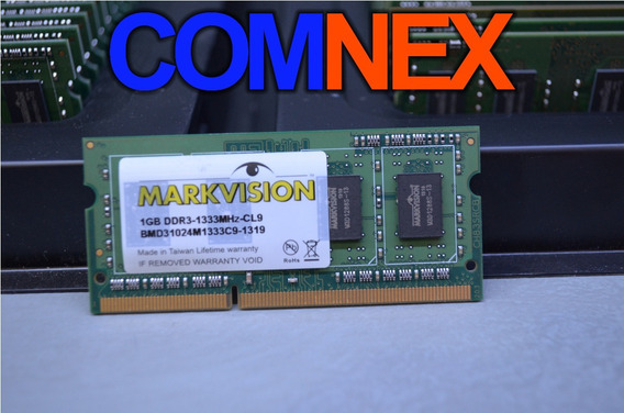 Memoria Ram Markvision 1gb Ddr3 1333mhz Ideal Notebook