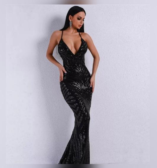 Vestido De Gala Largo Color Negro