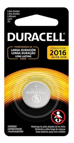 Pilha Botao 3v Litio Cr2016 (cartela C/1 Pilha) Duracell