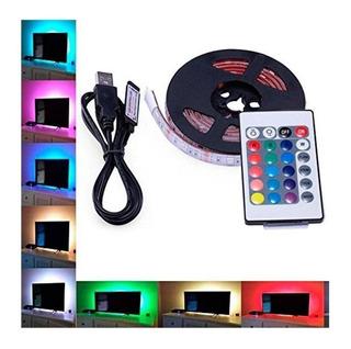 Tira Led Rgb Usb 2mts Luz Pc Tv Con Control Remoto
