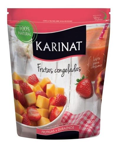 Imagen 1 de 5 de Fruta Congelada Karinat Frutillas/durazno X 300g