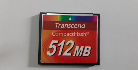 Cartão Memória Compact Flash 512mb Transcend