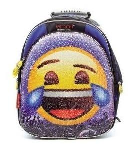 Mochila Espalda Emoji Con Lentejuelas Art. Tt844