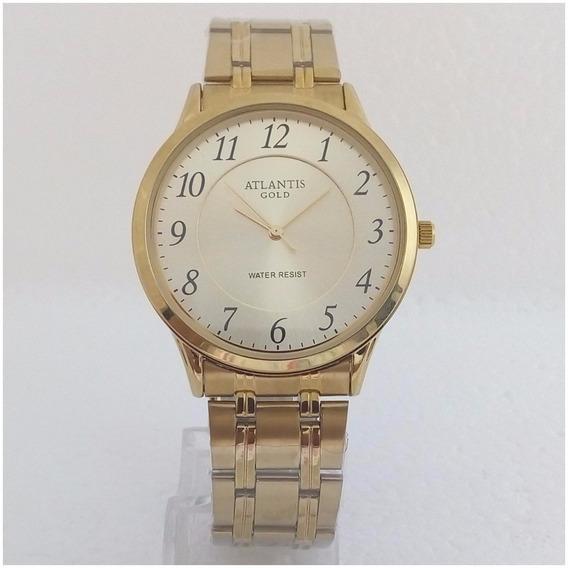 Relógio Feminino Atlantis A3043 Dourado Original Pv Dagua