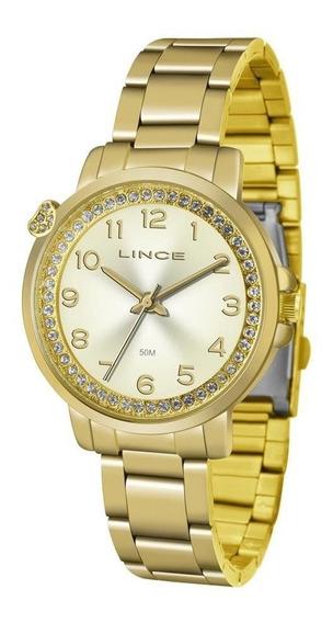 Relógio Lince Feminino Ref: Lrg4570l C2kx Casual Dourado