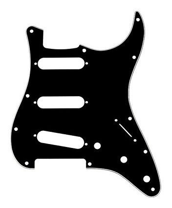 Musiclily 3ply Sss Guitarra Electrica Con 11 Agujeros