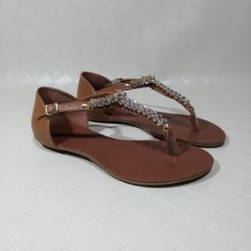 Rasteira Rasteirinha Feminina Pedras Cristal Rosa Shoes 10