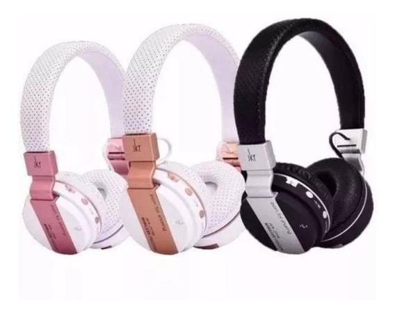 Fone De Ouvido Sem Fio Bluetooth Entrada Cartao Sd E Fm