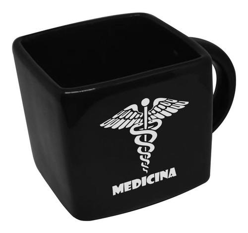 Caneca Cubo Quadrada Profissao Medicina 200ml