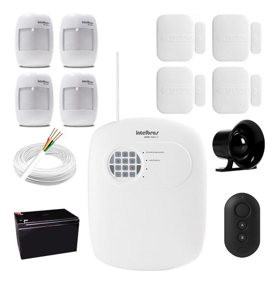 Kit Alarme Residencial Comercial Casa Intelbras Anm 3004 St