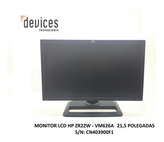 Monitor Lcd Hp Zr22w - Vm626a 22