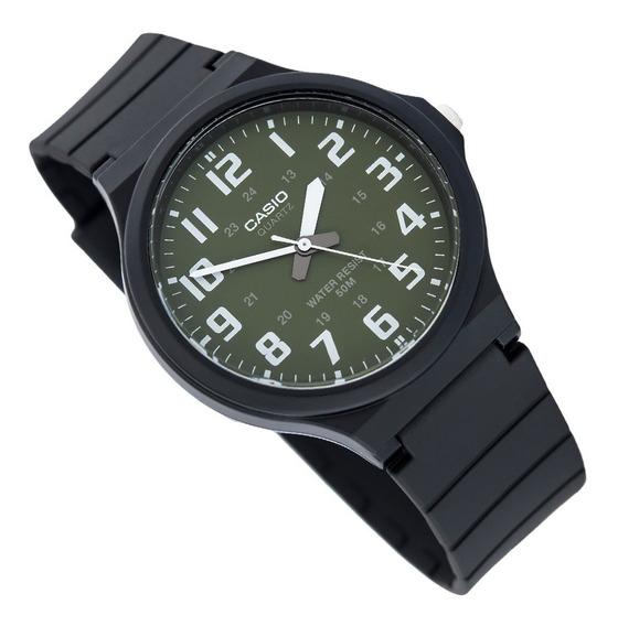Relógio Casio Masculino Branco Analógico Mw-240-3bvdf