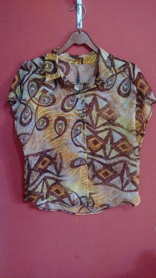 Camisa Estampada De Manga Curta
