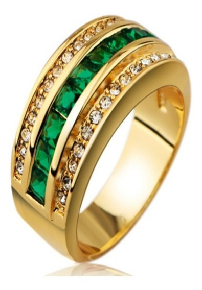 Anel De Noivado Namoro Casamento Compromisso Folheado Ouro