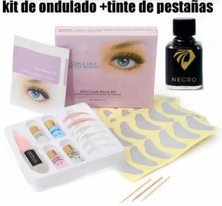 Kit Para Lifting Ondulado Rizado + Tinte De Pestañas .