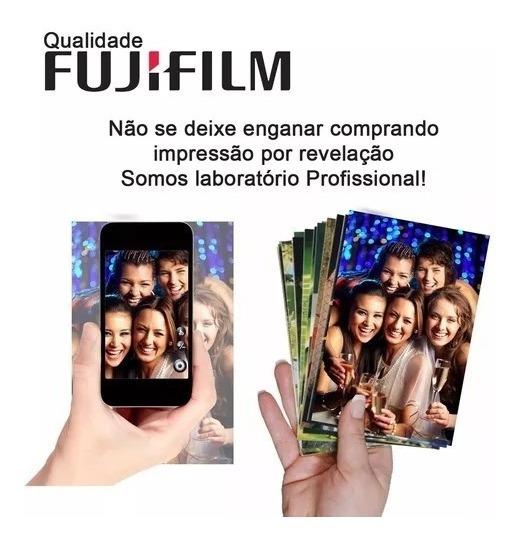 Revelação De 300 Fotos 10x15 + 30 15x21 Qualidade Fujifilm