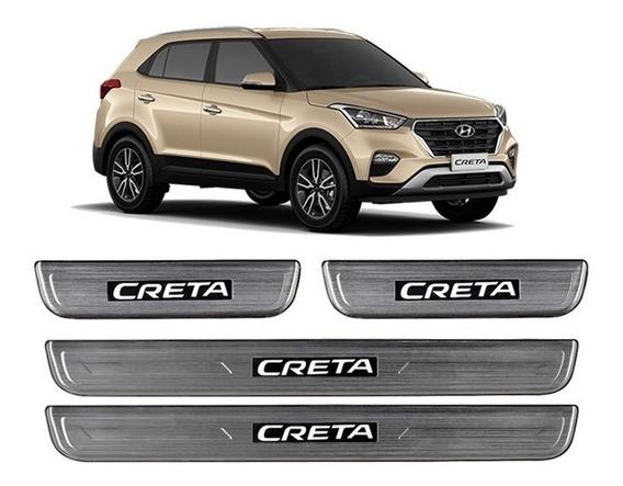 Protetor De Soleira Iluminada Led Hyundai Creta