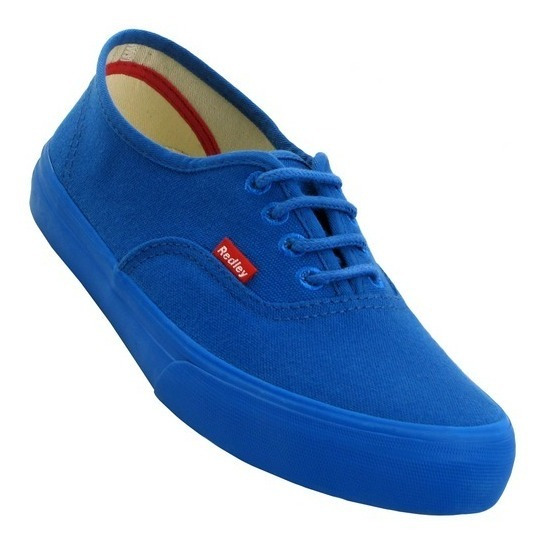Tenis Redley Monocromo Azul Royal Originals