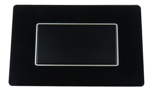 Imagen 1 de 3 de Tapa/placa Ciega Lujo Negro Espejo Black Mirror