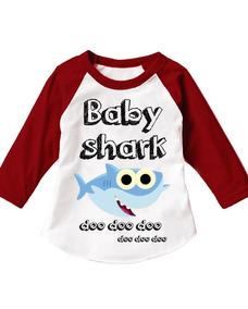 Paquete De 5 Playeras Familiar Baby Shark