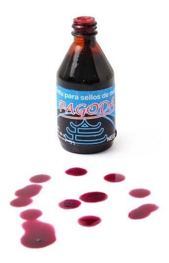 Tinta Para Sello De Metal Pagoda 30cc Negra