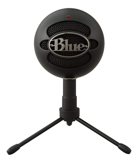 Microfone Usb Blue Snowball Ice Black + Jogo Battlergrounds