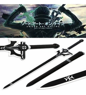 Espada Elucidator Kirito Aço Sword Art Online Anime Cosplay