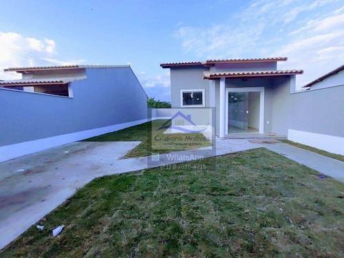 Casa Com 2 Dormitórios À Venda, 62 M² Por R$ 360.000,00 - Barroco (itaipuaçu) - Maricá/rj - Ca0933
