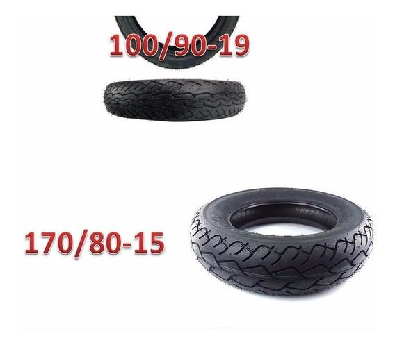 Pneu 170/80-15 E 100/90-19 Pirelli Mt66 (par)