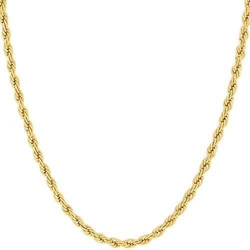 Lifetime Jewelry Cadena De Cuerda De 2mm, Oro De 24k Con Inc